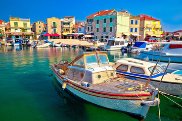Town of Vodice tourist waterfront view