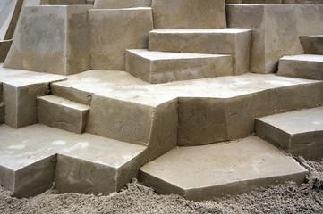 Stufen aus Sand