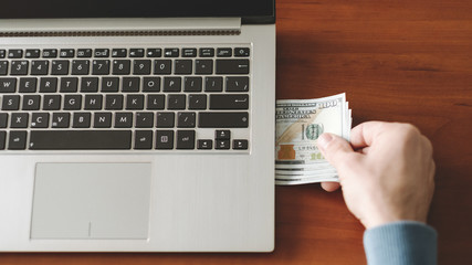 Online income. Internet business. Financial success on the web. Earning money working on the net