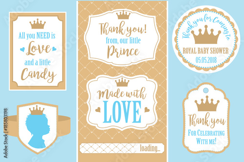 Set Of Vector Vintage Frames Templates Gift Tags For Royal Party