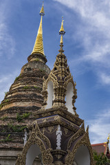 Stupa at a Buddhist temple Chiang Mai Thailand