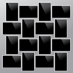 Collection of vector blank photo frames with shadow effects isolated. Set of photos (frame) for your picture.