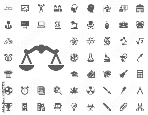 Scales Icon Science And Education Vector Icons Set Stock Image