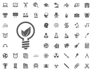 Eko bulb icon. science and education vector icons set.