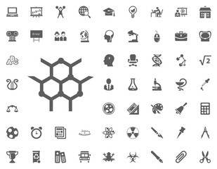 Chemical bonding icon. science and education vector icons set.