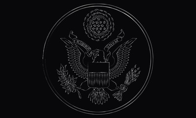 Drawing of the Emblem of the USA