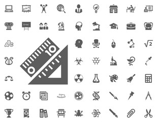 Ruler icon. science and education vector icons set.