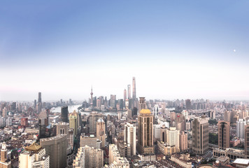 Panoramic view of Shanghai skyline and cityscape
