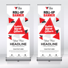 Roll up banner design template