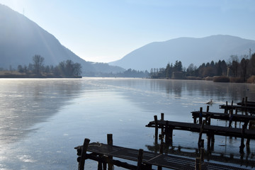 An entire lake completely frozen - Lake Endine - Bergamo - Italy 0011