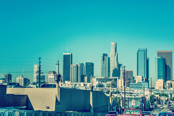 Wall Mural - Downtown Los Angeles on a clear day