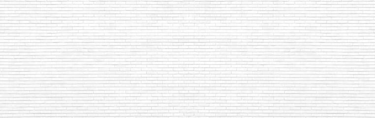 White brick Wall panorama.