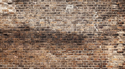 Fototapete - Old grungy brick wall, background texture