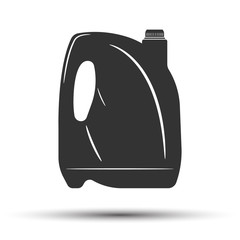 Oil and fuel canister engine icon on white