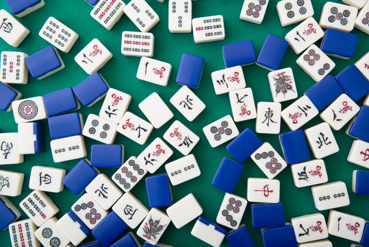 mahjong tiles for background