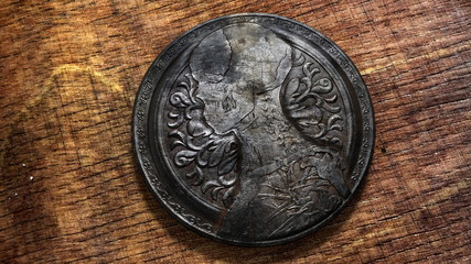 Vintage Coin anatomy motiv image silver dollar