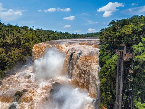 The Saltos del Monday near the city of Ciudad del Este in Paraguay