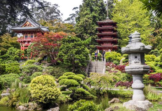 Japanese Tea Garden, Golden Gate Park, San Francisco, California, CA, USA
