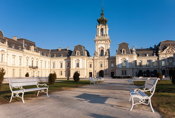 The Festetics baroque castle in Keszthely city near to Lake Balaton and Heviz in Hungary