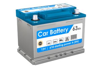 Car Battery closeup, 3D rendering