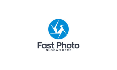Fast Photography logo designs concept