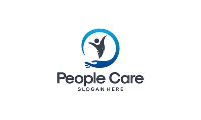 People Care logo designs vector, Personal Care logo template