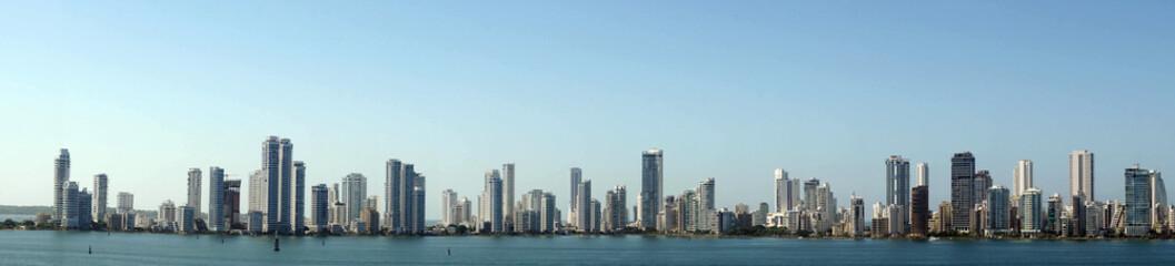 Panorama of skyline of new city