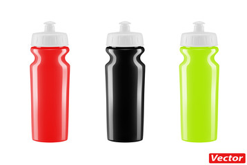 plastic bottle for Bicycle vector isolated on white background
