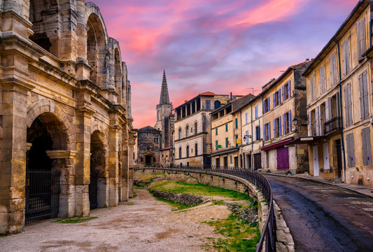 Arles Old Town and roman amphitheatre, Provence, France