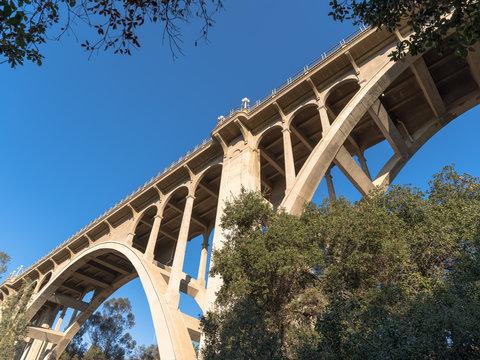 Colorado Street Bridge - Open-Spandrel Arch - Concrete - South Perspective Detail