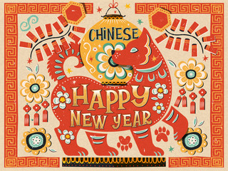 Colorful Chinese new year design