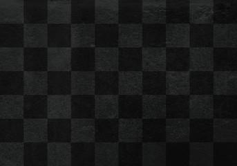 和紙背景素材テクスチャ-市松模様-黒