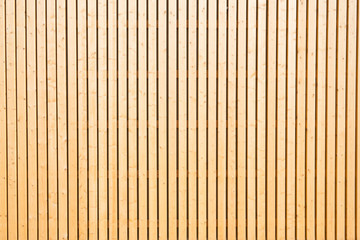Detail of a wooden wall on a sunny day