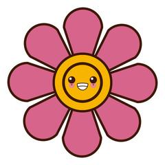 Flower in pot symbol cute kawaii cartoon vector illustration