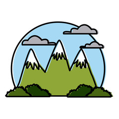 Big mountains isolated icon vector illustration graphic design
