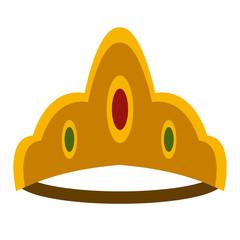 Luxury crown with diamonds icon vector illustration graphic design