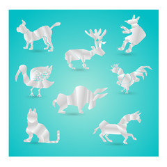 origami animals.