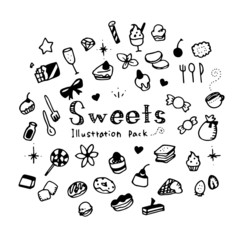 Sweets Illustration Pack