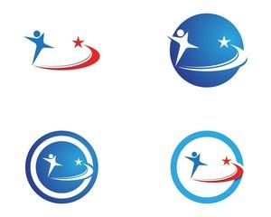 Human character logo design template