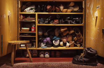Old Shoes in Closet