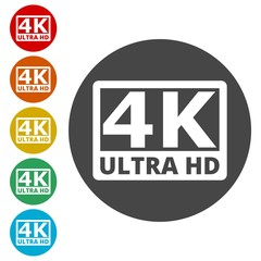 Ultra HD 4K icon set