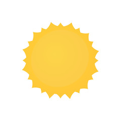 Yellow sun badge design illustration on white background