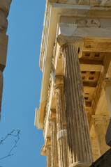 Wall Mural - columns ruins and sky  in Parthenon Athens Greece