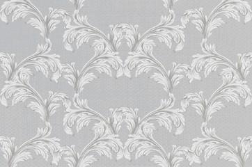 Baroque pattern background Vector. Vintage ornament decor textures