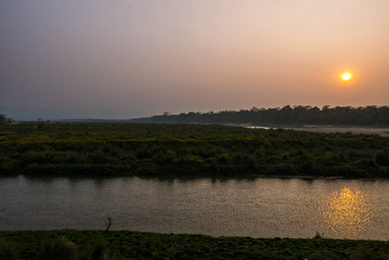Sonnenuntergang im Jungle