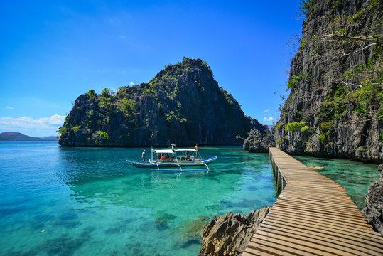 Seascape of Coron Islands, Philippines
