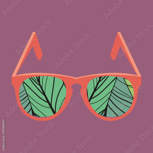Hipster vintage sunglasses on bright background. Web Banner Vector ...