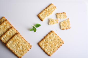 cracker, dry biscuit background