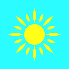 sun icon, vecror illustration