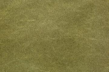 Rough olive canvas texture